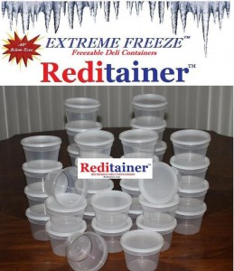 225 Reditainer Extreme Freeze Deli Containers 8 ounce size ...